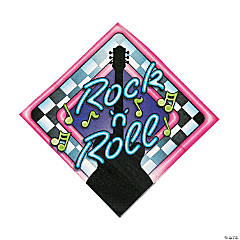 Rock 'N Roll Luncheon Napkins