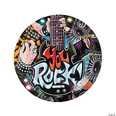 Rock Star Paper Dinner Plates