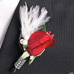 Rose & Crystal Boutonniere Idea