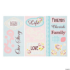Rose & Lace Title Stickers