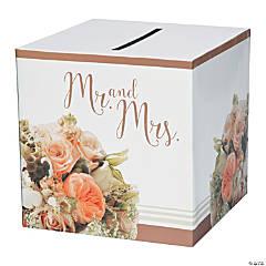 Rose Gold Bouquet Cardboard Card Box
