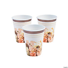 Rose Gold Bouquet Hot & Cold Paper Cups