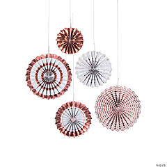 Rose Gold Foil Hanging Fans