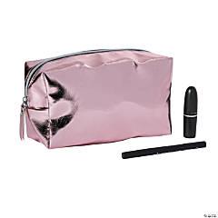 Rose Gold Metallic Makeup Bag