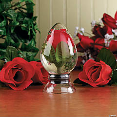 Rosebud Under Glass
