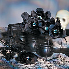 Roses with Eyeballs Halloween Décor