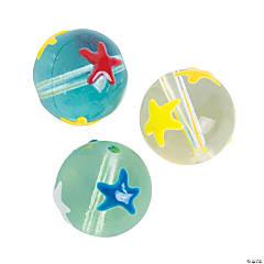 Round Beads with Stars - 14mm