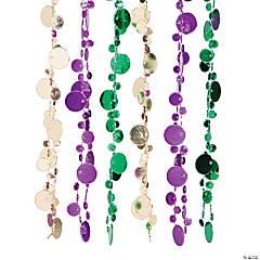 Round Disc Mardi Gras Beads