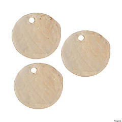 Round Flat Shell Beads - 12mm