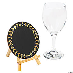 Round Laurel Leaf Chalkboards with Easel