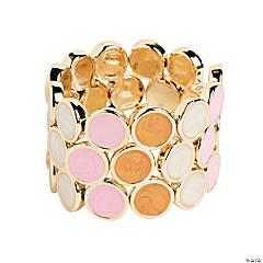 Round Milky Pink, Brown & White Bracelet Craft Kit