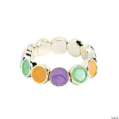 Round Milky Purple, Green & Gold Bracelet Craft Kit