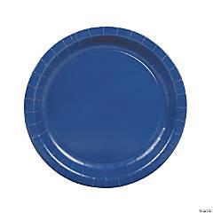 Round Navy Dinner Plates
