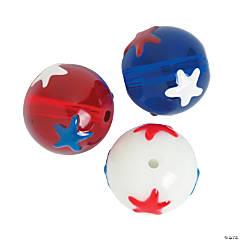 Round Patriotic Beads with Stars