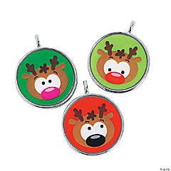 Round Reindeer Charms