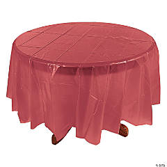 Round Tablecloth - Burgundy