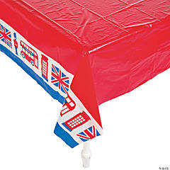 Royal Baby Shower Plastic Tablecloth