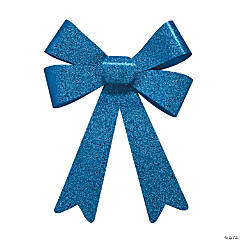 Royal Blue Glitter Bows