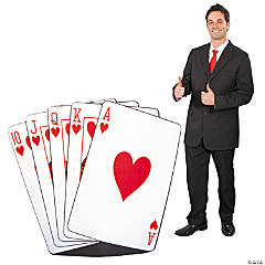 Royal Flush Cardboard Stand-Up