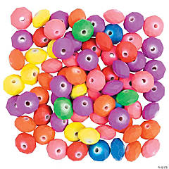 Rubber Coated Disc Beads Assorted Colors - 12mm