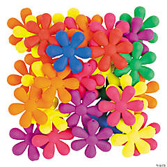 Rubber-Coated Flower Beads - 25mm