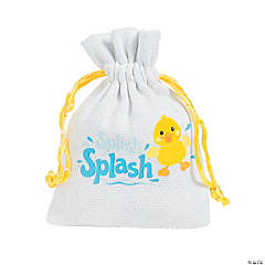 Rubber Ducky Baby Shower Mini Drawstring Treat Bags