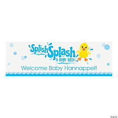 Rubber Ducky Personalized Vinyl Banner - Small