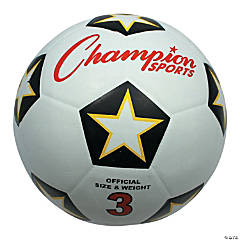 Rubber Soccer Ball Size 3, Set of 3