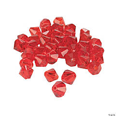 Ruby Crystal Bicone Beads - 8mm