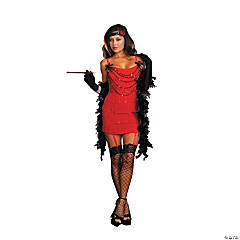 Ruby Red Hot Flapper Costume for Women