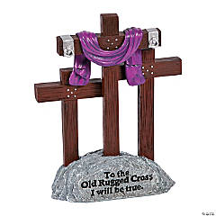 Rugged 3 Cross Statue