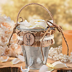 Rustic Flower Girl Basket Idea