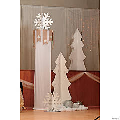 Rustic Wedding Column Topper Idea