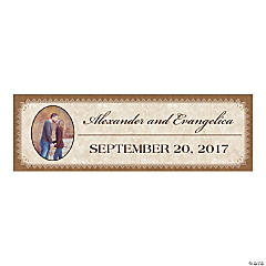 Rustic Wedding Custom Photo Banner - Medium