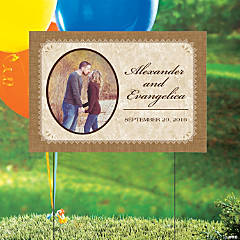 Rustic Wedding Custom Photo Yard Sign