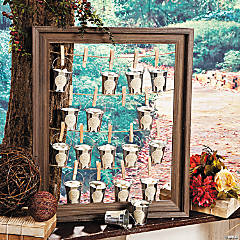 Rustic Wedding Favor Frame Idea