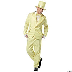 70s Funky Tuxedo Pastel Yellow Adult Men's Costume