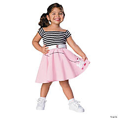 50s Girl Toddler Kid's Costume