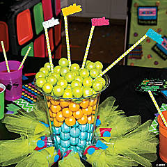 80's Shot Glass Centerpiece Idea