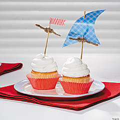 Sailboat Cupcake Picks idea