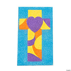 Sand Art Cross Picture Craft Kit