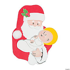 Santa & Baby Jesus Magnet Craft Kit