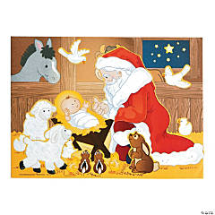 Santa & Jesus Mini Sticker Scenes