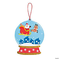 Santa & Reindeer Snow Globe Sign Craft Kit