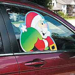 Santa & Snowman Car Window Clings