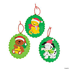 Santa Animal Christmas Ornament Craft Kit