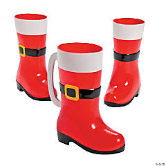 Santa Boot Plastic Mugs