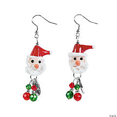 Santa Earrings Craft Kit