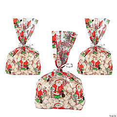 Santa Goody Cellophane Bags