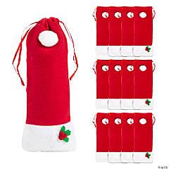 Santa Hat Drawstring Bags